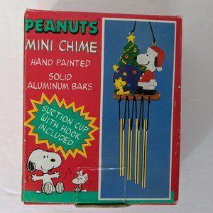 Vintage Peanuts Mini Chime Christmas Snoopy Tree